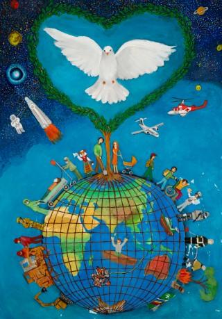 """Виктор от Русе с награда от LCI за """"Peace Poster"""" 2020-21!"""
